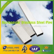 Pipe rectangulaire en acier inoxydable