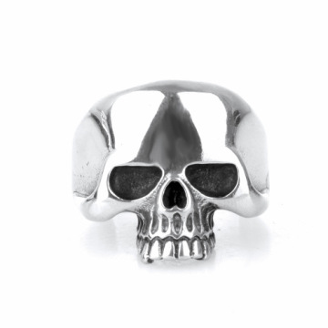 Jewelry Titanium steel ring skull silver