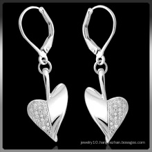 Fashion Silver Earrings with CZ Stone (Q-3996)