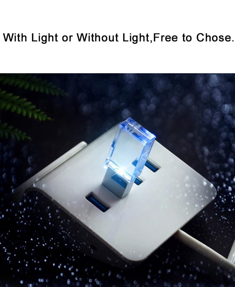 crytal led usb flash drive