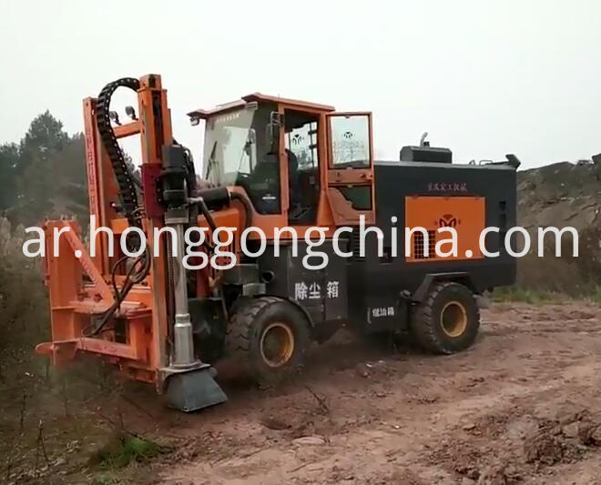 Pressing Steel Barrier Piling Machine