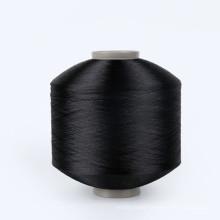 China manufacturer Semi dull fdy black polyester 75 denier yarn 75d 100d 150d 300d 450d 600d
