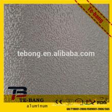 Fabricantes directos de piel de naranja en relieve hoja de aluminio