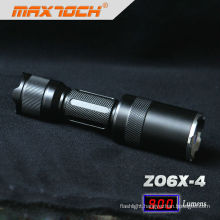 Maxtoch ZO6X-4 18650 Battery Charger Cree T6 Zoomable Flashlight