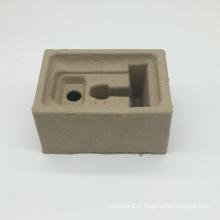 Bac à pulpe en papier gris écologique