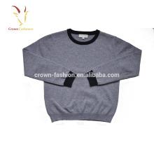 Suéter de caxemira cinza menino crianças malhas Pullovers