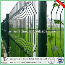 yard welded pvc coated border green garden wire mesh fence