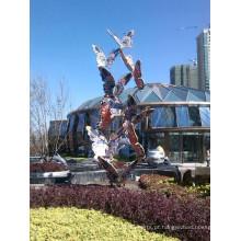 Large Modern Arts Abstract Escultura de pássaro de aço inoxidável para decoração de jardim