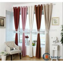Moderne Leinen Stoff Ösen Vorhänge mit breitem Band