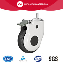 Draadsteel Swivel TPR Medical Caster