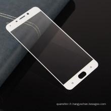 prix direct d'usine de shenzhen, protecteur d'écran en verre trempé de film de couverture totale de téléphone portable pour OPPO R9