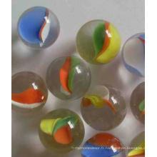 Marbre en verre de 16 mm, marbre verre à jouet, usine OEM