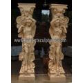 Porch Column with Stone Marble Granite Sandstone (QCM140)