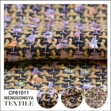 Tecido de sofá de tecido de tweed de chenille elegante Designer de qualidade superior
