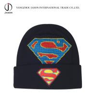 Chapéu de malha de acrílico inverno Knitted Toque Acrílico Knitted Toque Turn up Knitted Hat