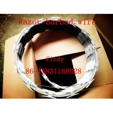 Bobine de fil barbelé de rasoir de Bto-22 Bto-65 Concertina 450-600mm