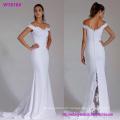 a- Line off The Shoulder Satin Wholesale Wedding Dress