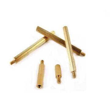 Brass standoff bolts round knurling standoff bolts
