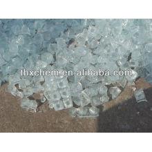 Solid sodium silicate adhesive
