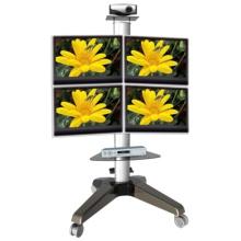 Montagem de monitor de quatro rodas com monitor permanente (PSF208)
