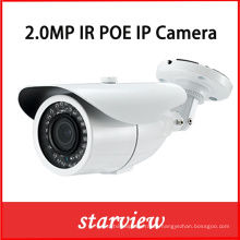 2.0MP HD IP Poe IR CCTV red de seguridad al aire libre Bullet cámara IP