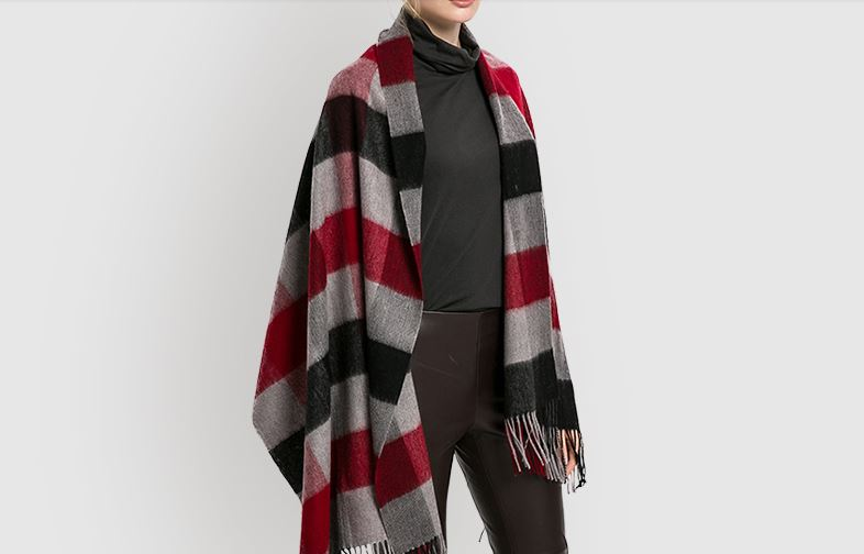 Pure cashmere plaids throw -4