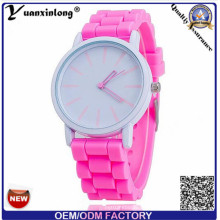 Yxl-319 Promocionais Publicidade Quartz Relógios Lady Watch Jelly Cindy Color Silicone Band Mulheres Genebra Assista Atacado