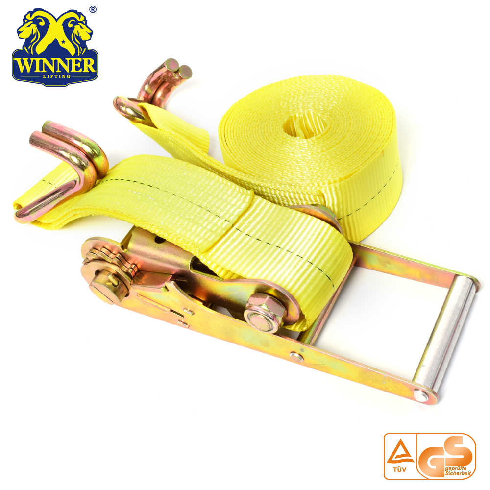 Polyester Ratched Tie Down Cargo Lashing Strap Belt