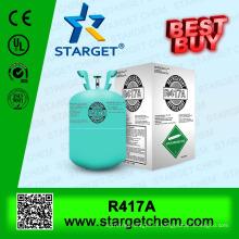 Gaz fluide réfrigérant écologique R417a à remplacement pour r22 en 13.6kg / 30lb cylindre