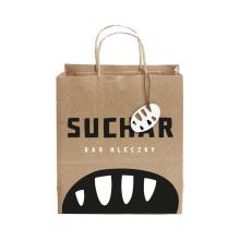 sac de papier brun recyclé de mode