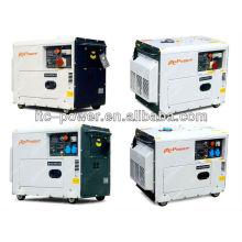 5kW портативный тихий звукоизоляционный электрический зеленый генератор мощности