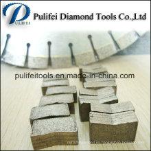 Segmento de corte de diamante para la losa de piedra de bloque de mármol de losa de granito