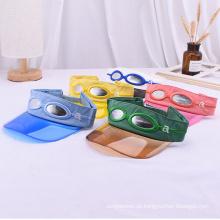 Premium Stirnband mit Sonnenbrille transparente Babyvisierkappen