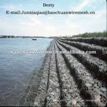 Anti-corrosion PVC coated gabion box with reasonable price in store(supplier)