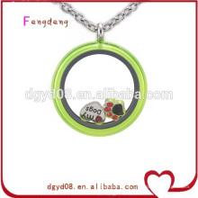 collar medallón medallones de cristal colgante medallón de acero inoxidable