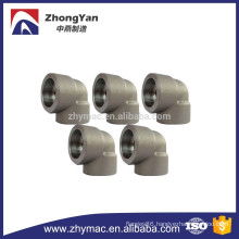 A105 Forged carbon steel pipe fittings 90 degree socket welding fittings elbow