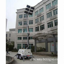 LED Mobile Light Tower Hydraulic with Kubota and 360° Rotation