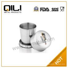 SGS сертифицированные нержавеющая сталь складной карманный Кубок