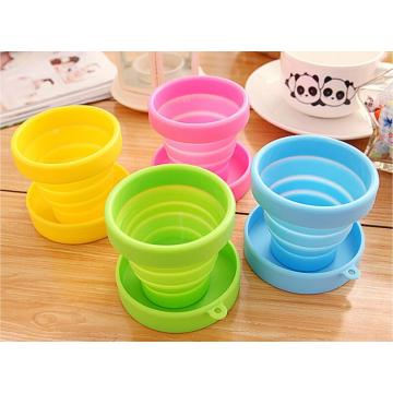 Easy Stock Folding Cups Untuk Minuman Perjalanan Silicone Container