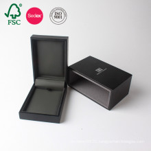 Custom Black Paper Jewellery Wedding Luxury Gift Box Packaging Cardboard Manufacturer From China