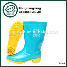 flache Schuhe für Frauen PVC Regen Boot B-806