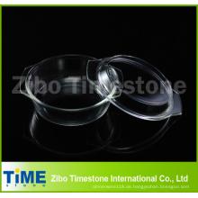 Boro Silicate0.7L Round Casserole mit Deckel in Großpackung
