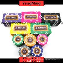 Conjunto de fichas de pôquer de adesivo (760PCS) Ym-Mgbg003