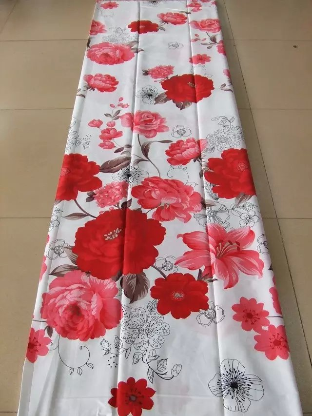 cotton fabrics flower red