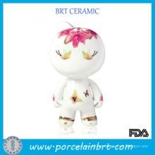Pequeno Dorable Ceramic Porcelain Presente de Aniversário