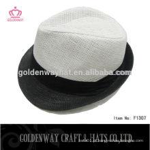 Mais novo estilo branco chapéu barato de Fedora