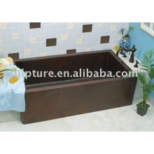 square hotel hand made copper bathtub