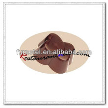 V109 PC plástico doble corazón forma molde de chocolate