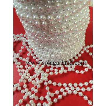 8/10/12 / 14MM Faux Shiny White Pearl Beads Garland