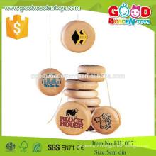 2015 Hotsale Natural Wooden Happy Kids Toys, новый дизайн Деревянный Yo-Yo, популярные рекламные деревянные игрушки